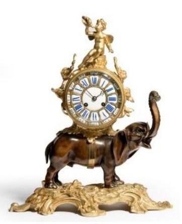 Cast bronze clock