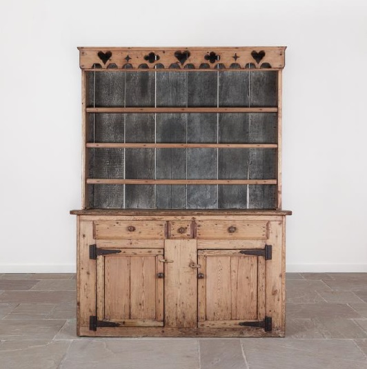 An antique 19th century Irish dresser at Bath Decorative Antiques Fair