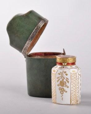 An antique perfume bottle