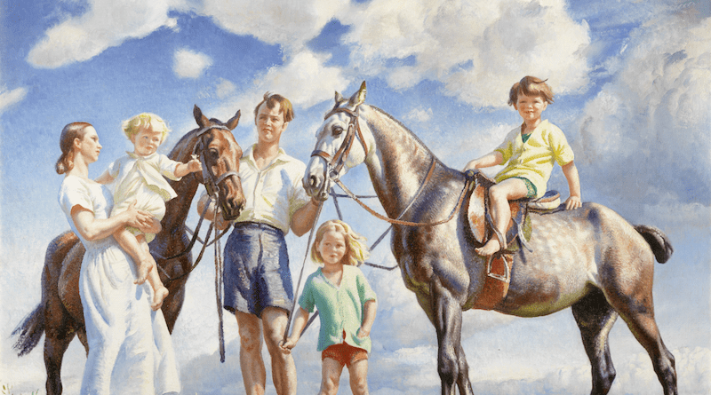 Dame Laura Knight's painting entitled A Seaside Holiday