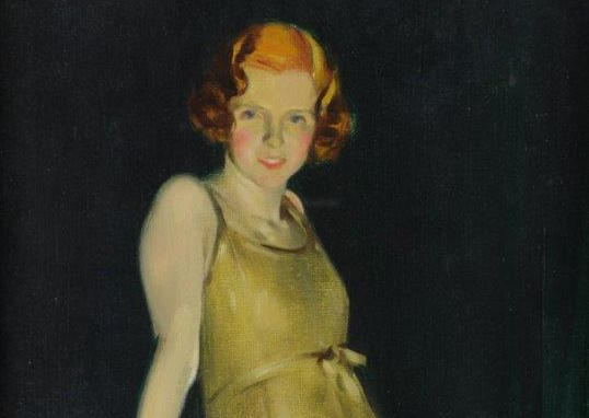 David Jagger portrait of girl with red hair