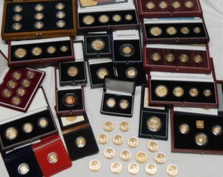 Gold and silver coins in Lincolnshire auction