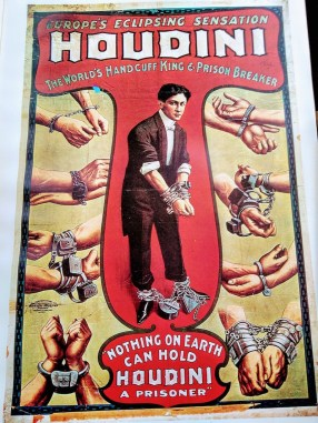 A Houdini poster from the antique magic collection