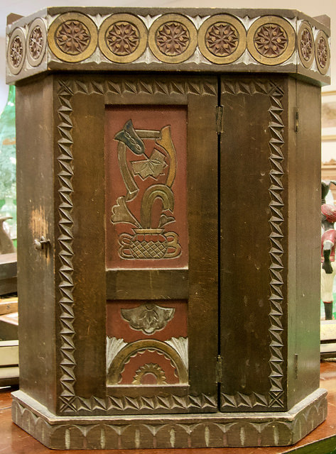 A corner cabinet by Victorian architect William Burges