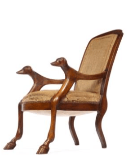 Antique French walnut chair