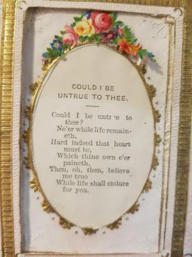 An antique Valentine's Day card