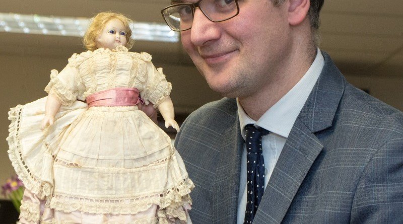 Charles Hanson and antique wax doll