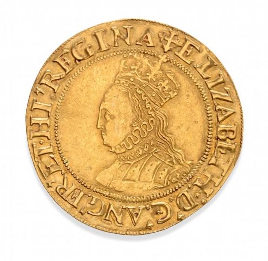 Elizabeth I gold coin