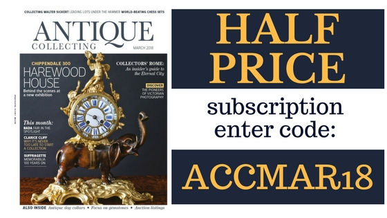 Get a half price subscription to Antique Collecting magazine