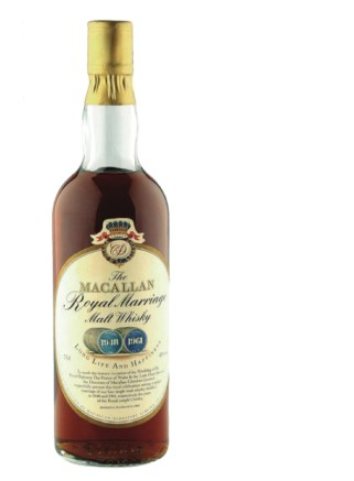Macallam Whisky Royal marriage bottle