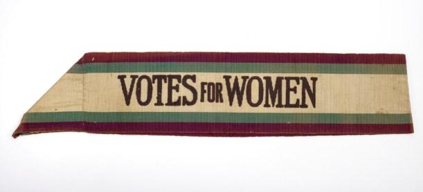 Suffragette Votes for women sash