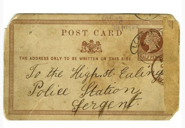 Letter address on the Jack The Ripper letter