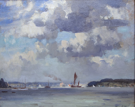 Painting by Edward Seago at The Northern Antiques Fair