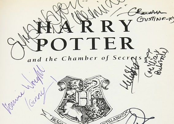 Signed Harry Potter book in sale