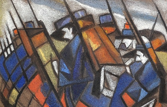 Study for Returning to the Trenches by Christopher Richard Wynne Nevinson