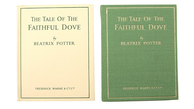 Beatrix Potter first editions of The Tale of the Faithful Dove