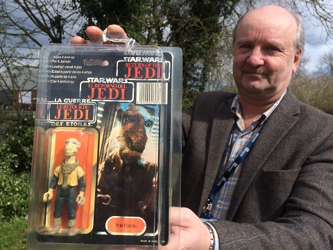 Star Wars toys with auction house valuer