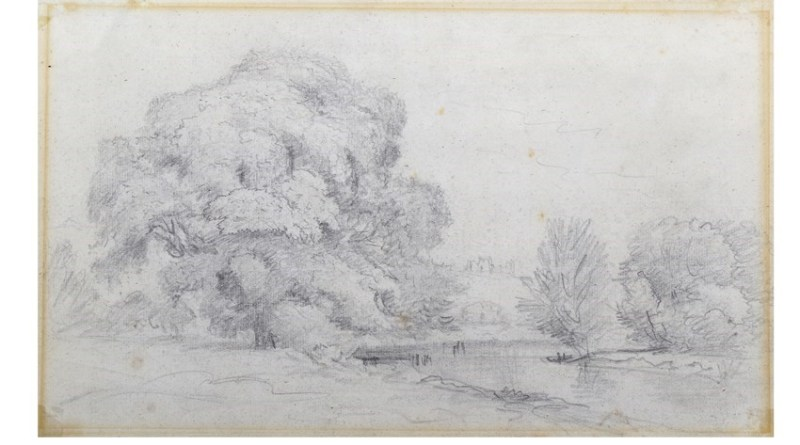 John Constable sketch believed to be of Framlingham castle