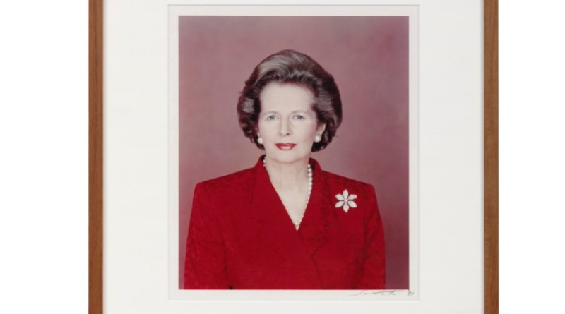 A photograph of former Prime Minister Margaret Thatcher