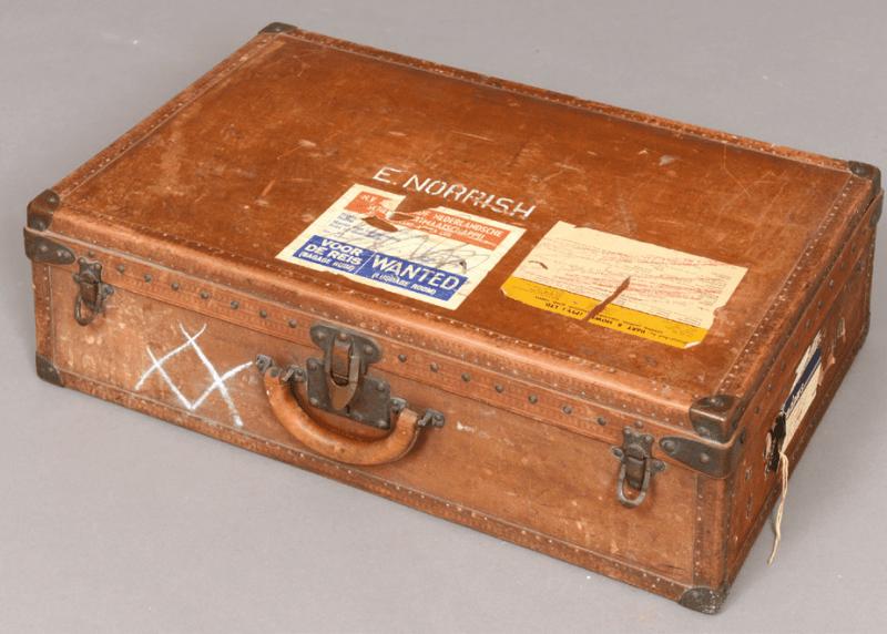Leather Louis Vuitton suitcase