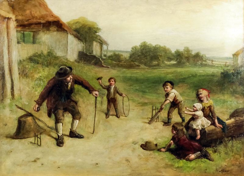 19th century cricket painting