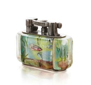 A Dunhill aquarium table lighter