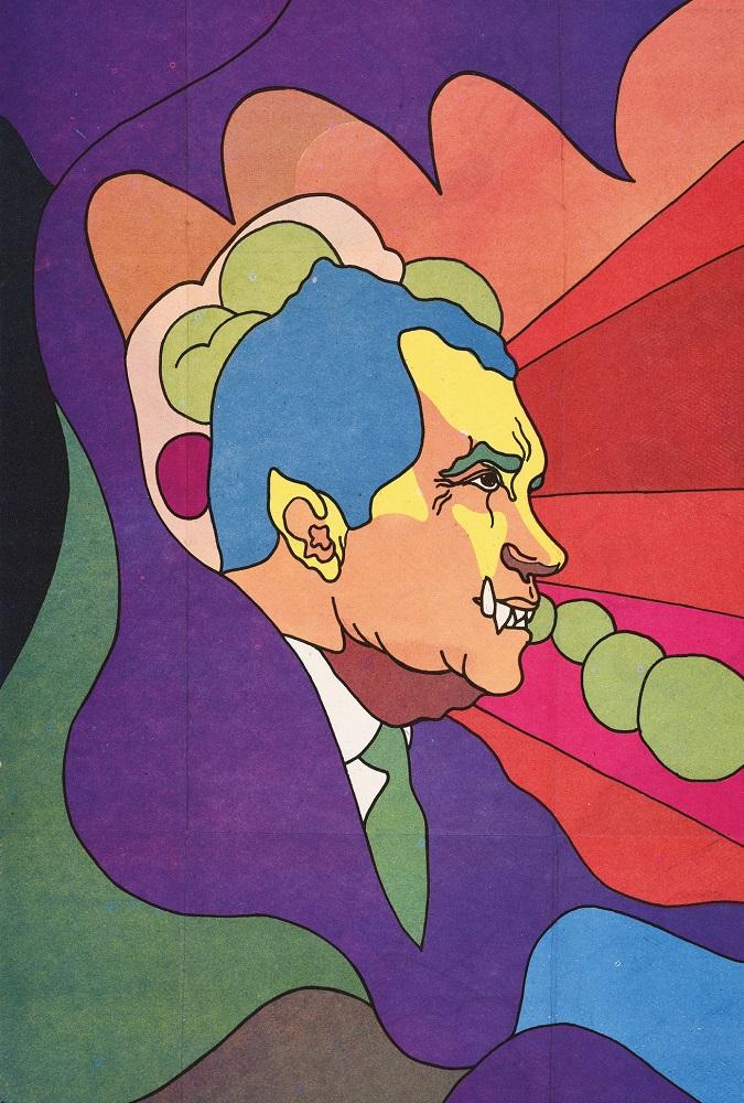 Richard Nixon on Cuban propaganda poster