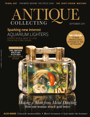 Front cover of September 2019 issue of Antique Collecting magazine