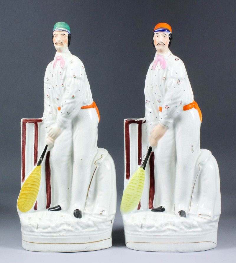 Staffordshire figures of cricket player Julius Caesar