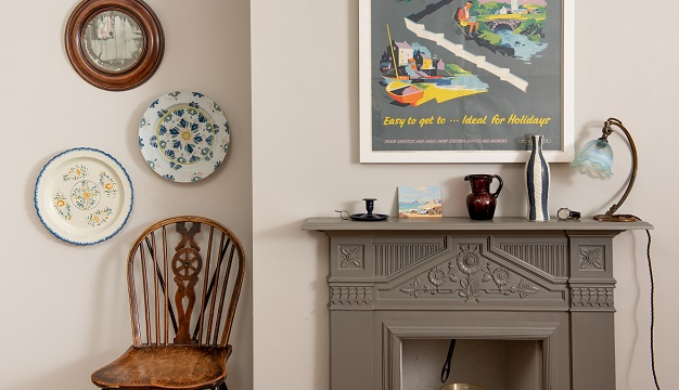 Vintage items and antiques are green alternatives to new in this room