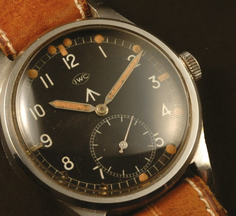 An original radium dial on an IWC WWW military watch