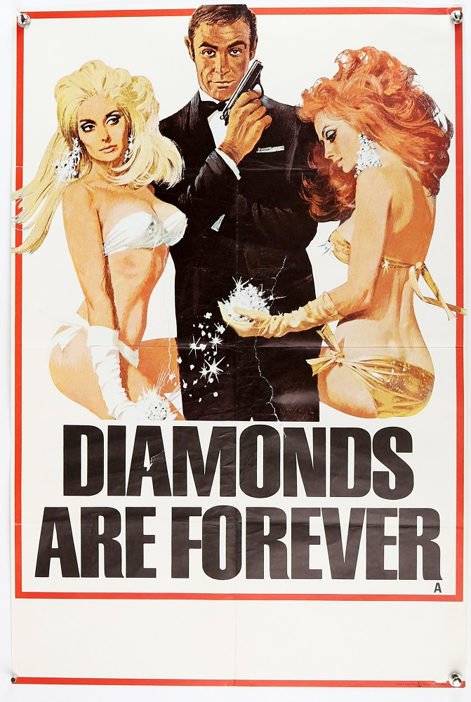 James Bond movie poster of Diamonds are Forever