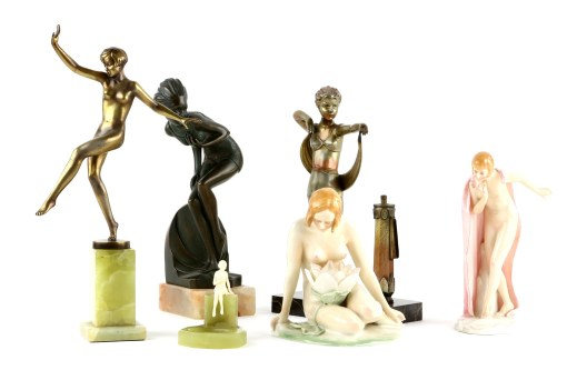 Art deco figurines in Ewbank's sale
