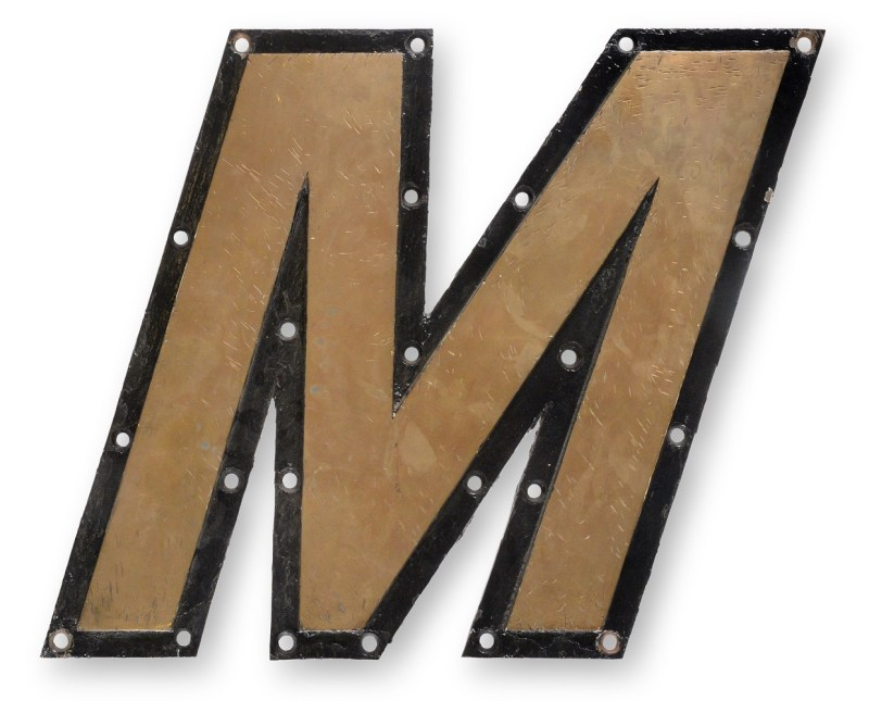 Letter M from the Mauretania