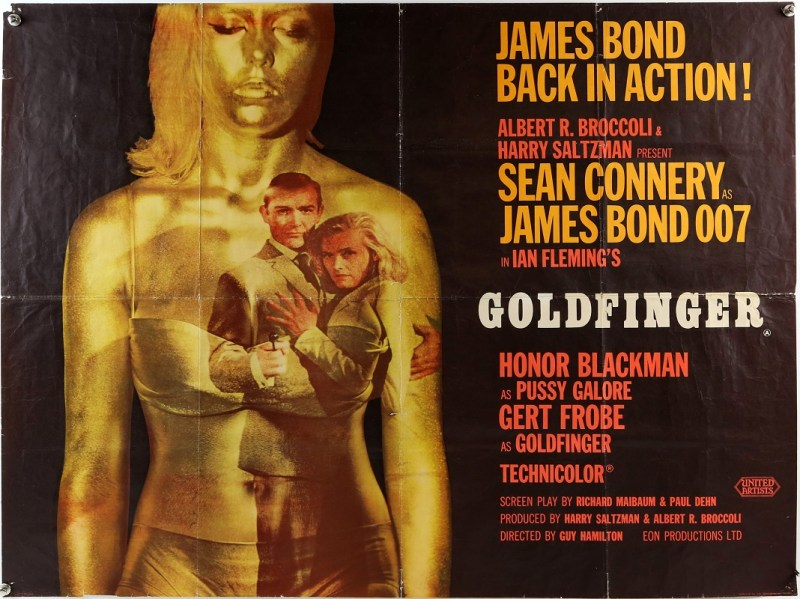 James Bond Goldfinger film poster