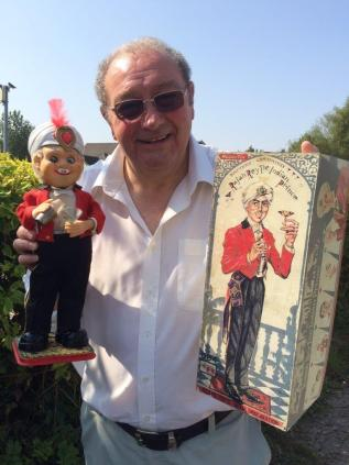 Mike Stockwell with an example from his collection of vintage tin toys