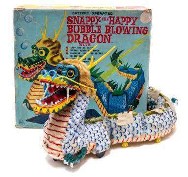 Vintage tin toy dragon