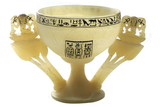 A Wishing Cup at the Tutankhamun exhibition