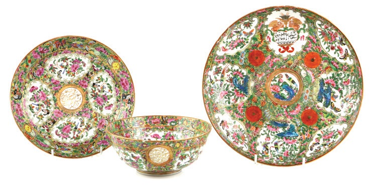 Asian famille rose porcelain