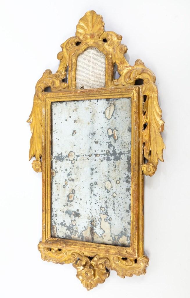 Antique gilded mirror at Winter Decorative Antiques and Textiles Fair