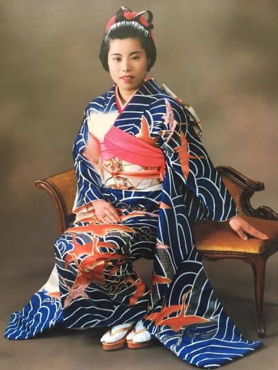 Masayo Long in one of the kimonos