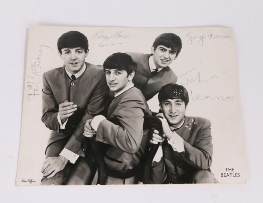 Signed Beatles photograph