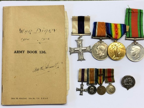 First World War diary and medals
