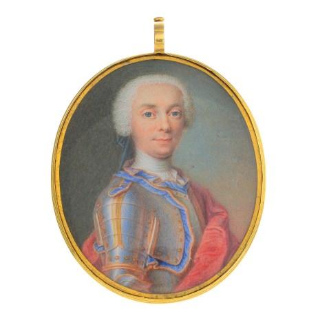 A miniature portrait of Charles Knyvett