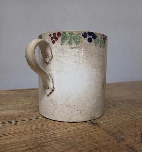 Antique Scottish spongeware mug