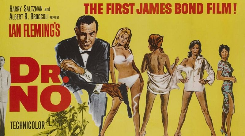 James Bond Dr No vintage film poster