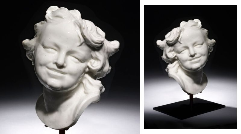 Louis-François Roubiliac porcelain head