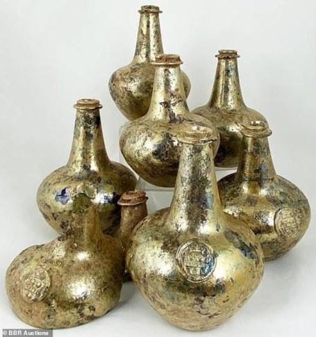 Gold bottles