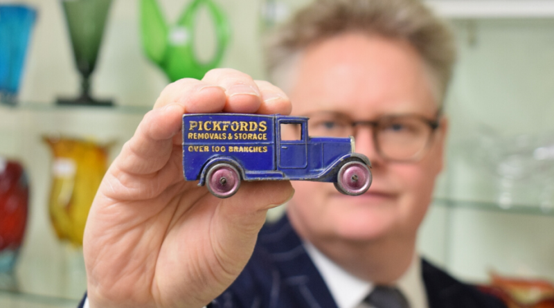 Richard Bromwell with the Dinky Toy van