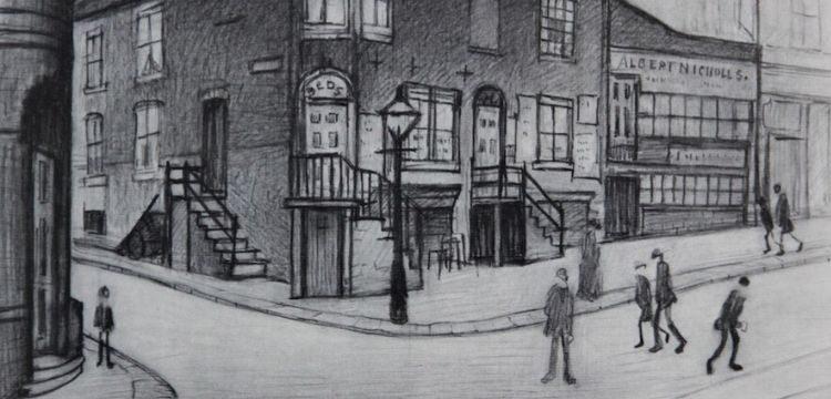 A print by LS Lowry